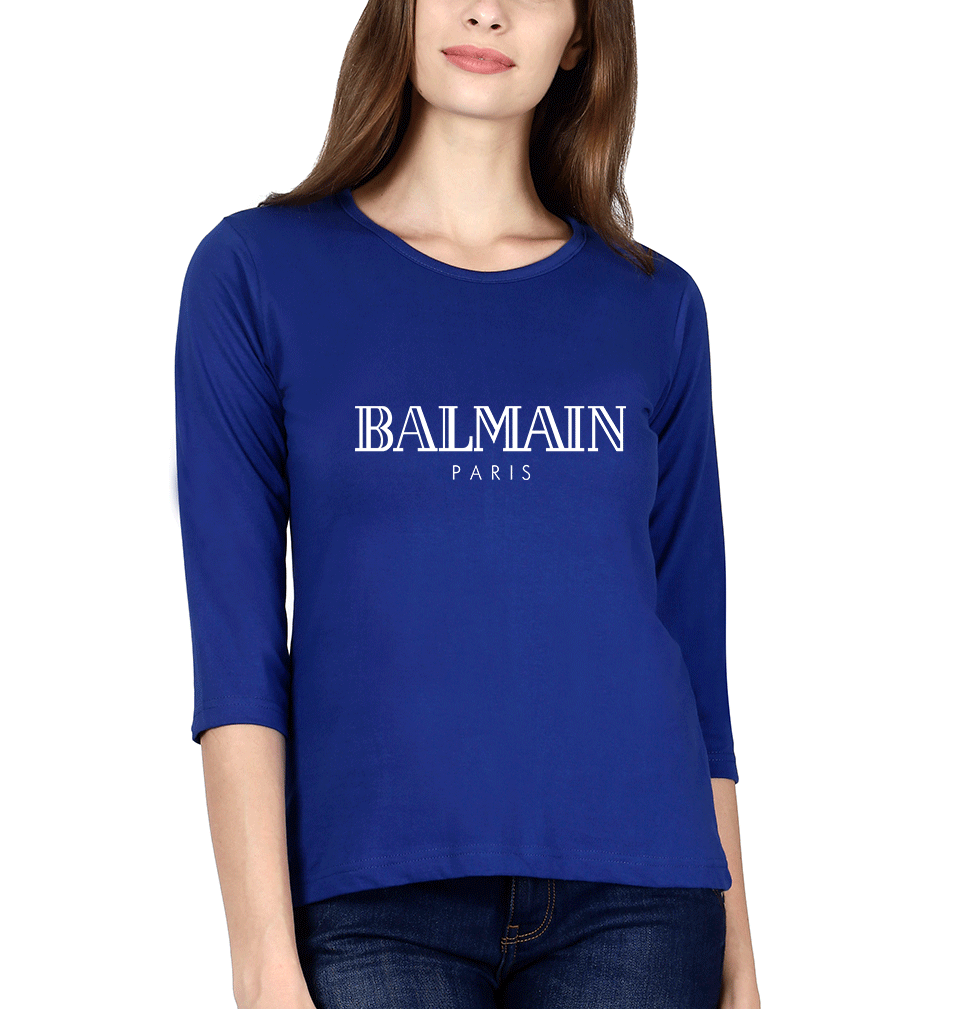 Balmain Paris Full Sleeves T-Shirt for Women