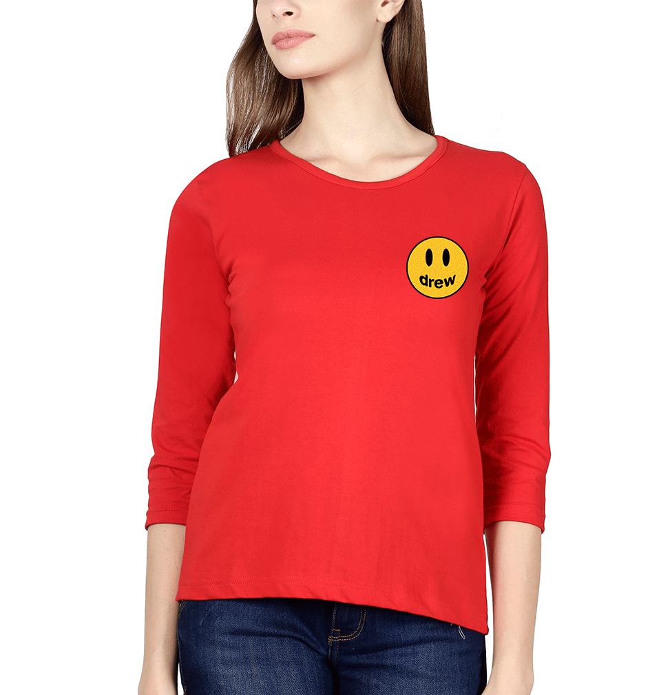 Drew House logo Full Sleeves T-Shirt for Women