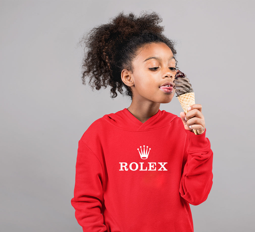 Rolex Hoodie for Girl-0-1 Year(22 Inches)-Red-ektarfa.com