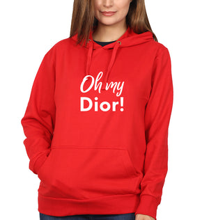Oh My Dior Hoodie for Women-S(40 Inches)-Red-ektarfa.com