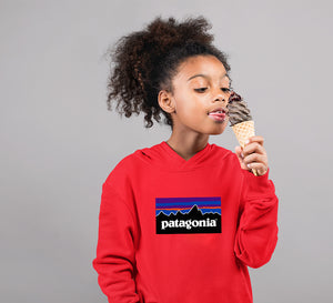 Patagonia Hoodie for Girl-0-1 Year(22 Inches)-Red-ektarfa.com