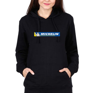 Michelin Hoodie for Women-S(40 Inches)-Black-ektarfa.com