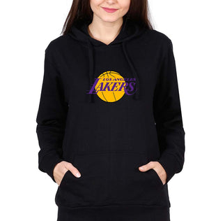 Los Angeles Lakers Hoodie for Women-S(40 Inches)-Black-ektarfa.com