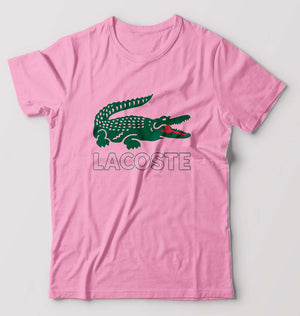 Lacoste T-Shirt for Men-S(38 Inches)-Light Baby Pink-ektarfa.com