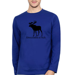 Abercrombie & Fitch Full Sleeves T-Shirt for Men-S(38 Inches)-Royal Blue-ektarfa.com
