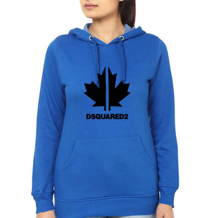 DSQUARED2 Hoodie for Women-S(40 Inches)-Royal Blue-ektarfa.com