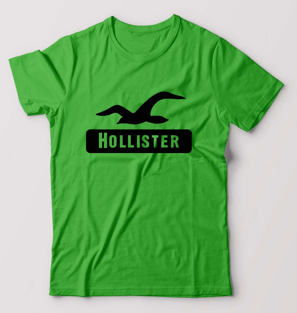 Hollister T-Shirt for Men-S(38 Inches)-flag green-ektarfa.com