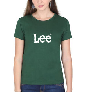 Lee T-Shirt for Women-XS(32 Inches)-Dark Green-ektarfa.com