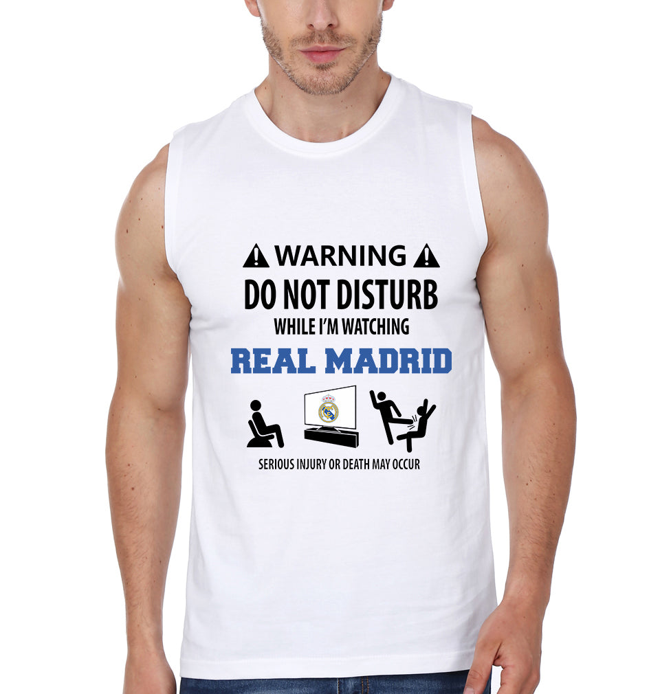 Warning Real Madrid Sleeveless T-Shirt for Men