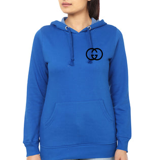 Gucci Logo Hoodie for Women-S(40 Inches)-Royal Blue-ektarfa.com