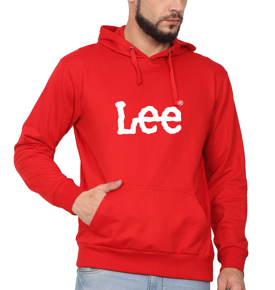 Lee Hoodie for Men-S(40 Inches)-Red-ektarfa.com