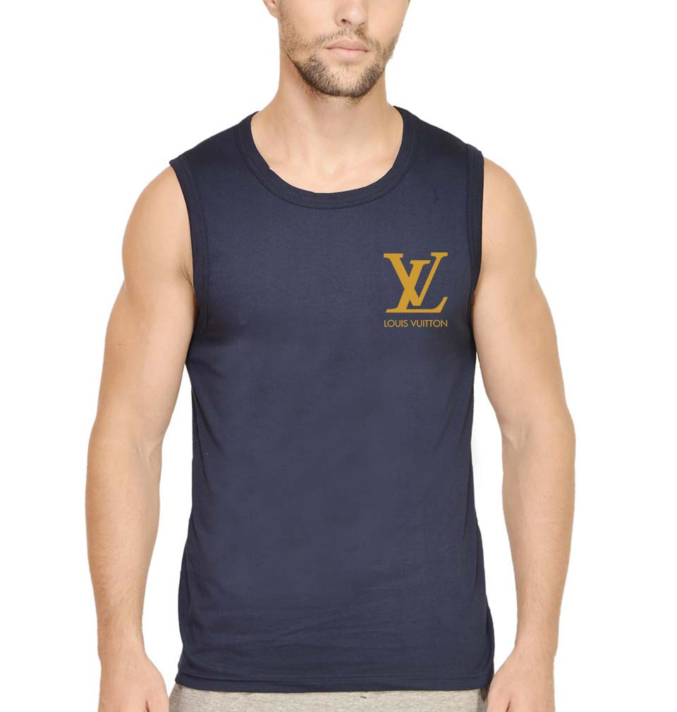 Louis Vuitton(LV) Logo Sleeveless T-Shirt for Men
