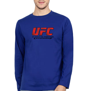 UFC Full Sleeves T-Shirt for Men-S(38 Inches)-Royal Blue-ektarfa.com