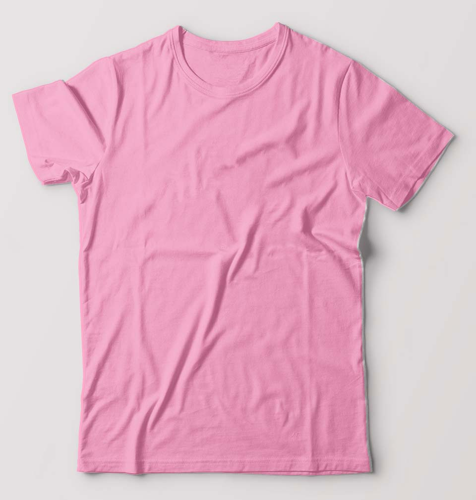 Plain Light Pink / Baby Pink Half Sleeves T-Shirt For Men