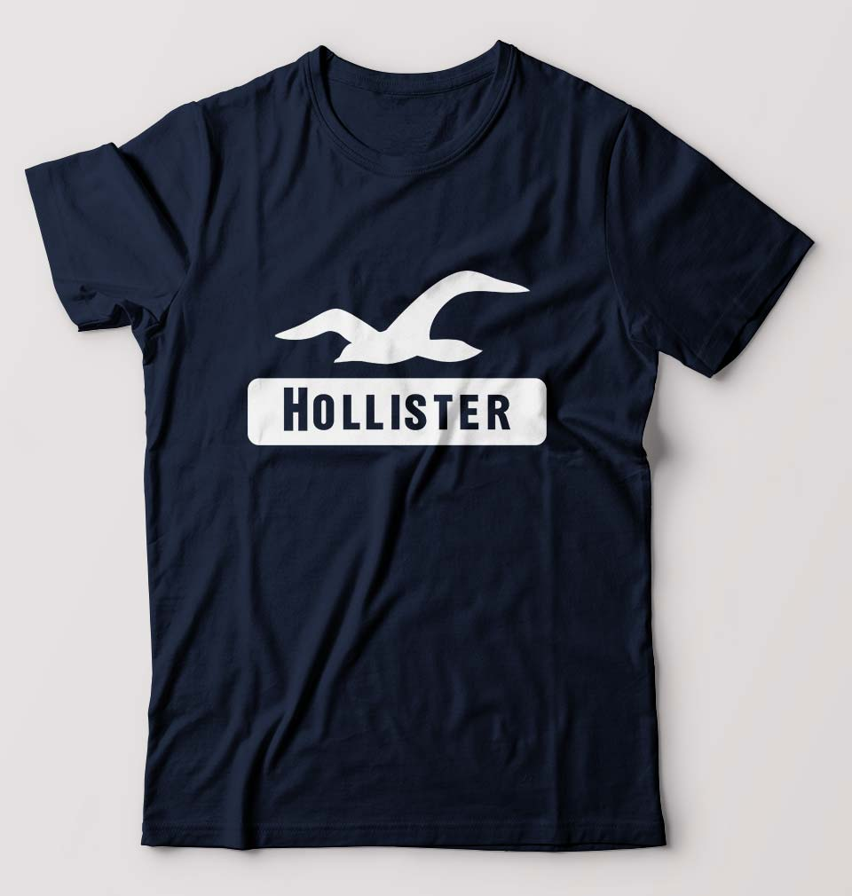 Hollister T-Shirt for Men-S(38 Inches)-Navy Blue-ektarfa.com