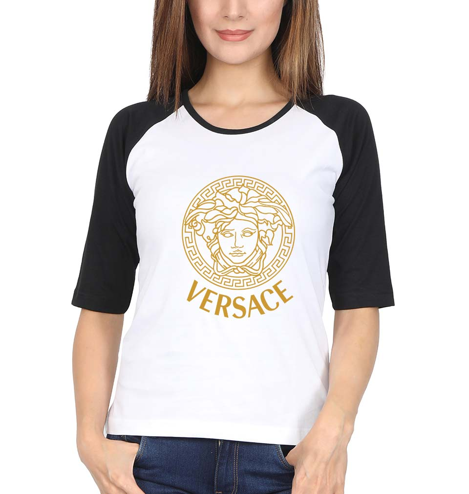 Versace Full Sleeves Raglan T-Shirt for Women