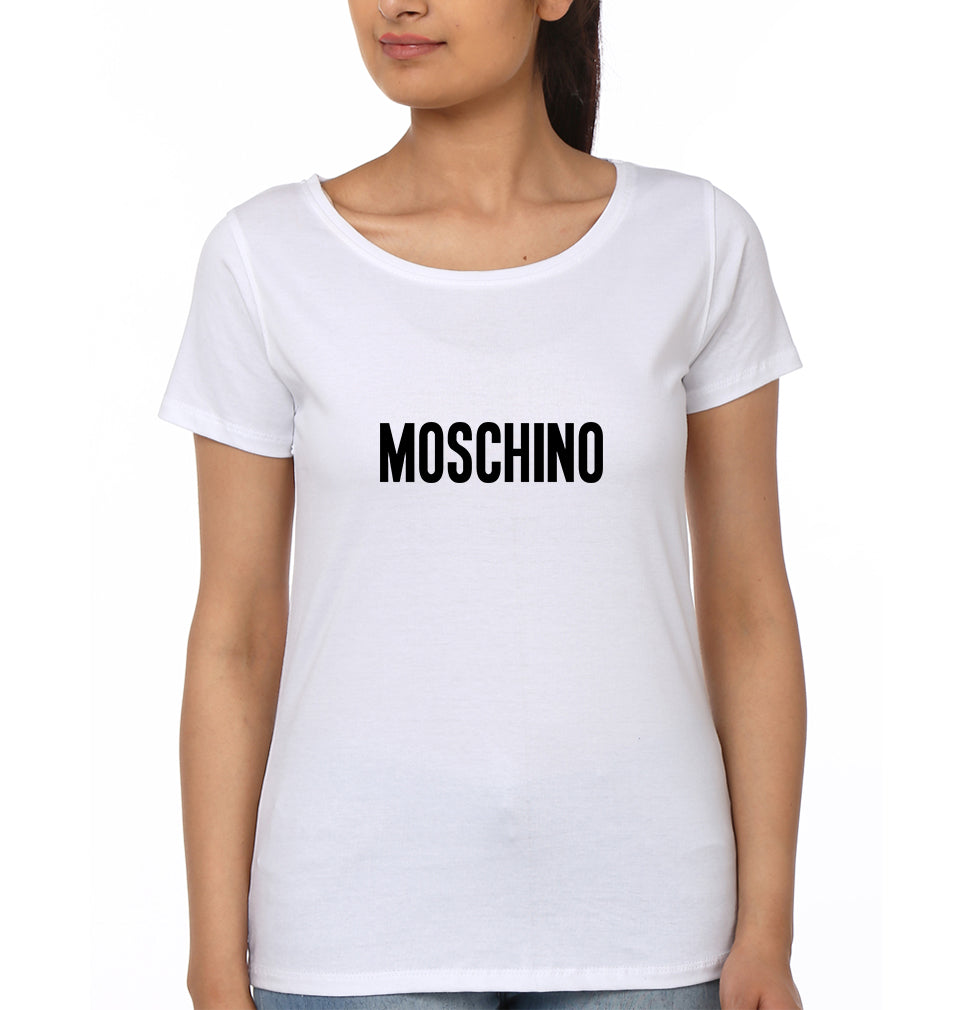 Moschino T-Shirt for Women-XS(32 Inches)-White-ektarfa.com