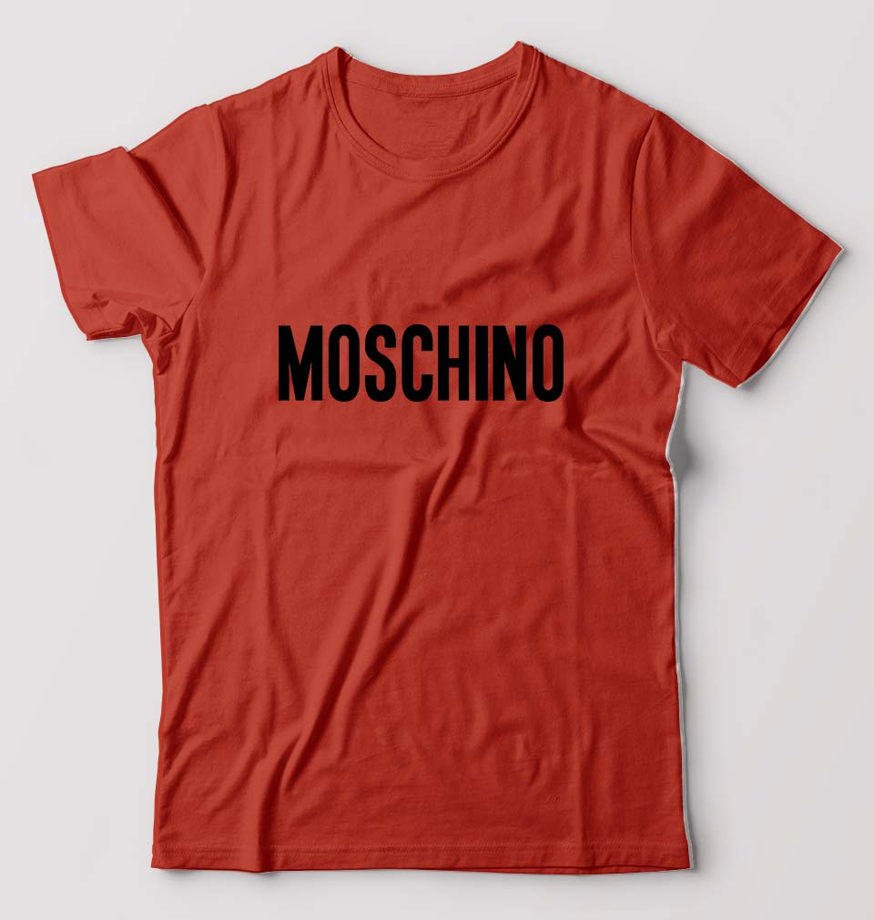 Moschino T-Shirt For Men-M(40 Inches)-Brick Red-ektarfa.com