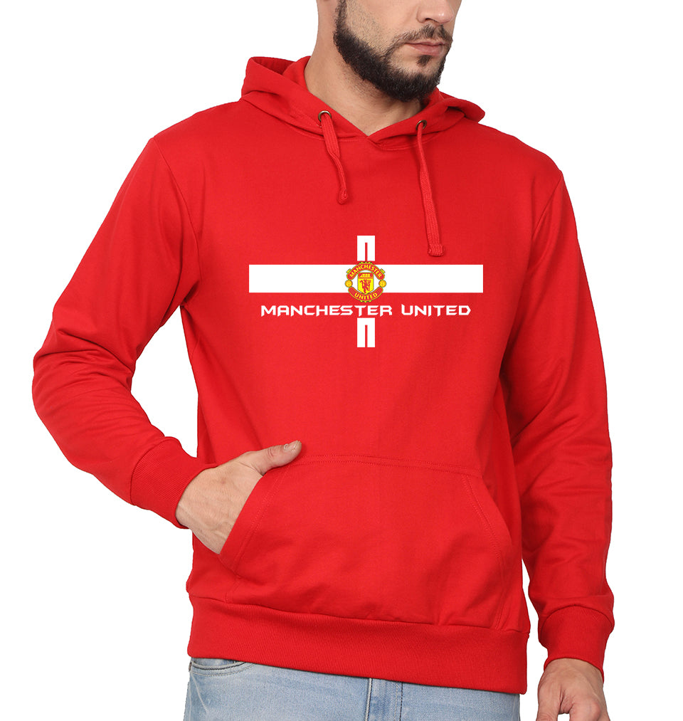 Manchester United Hoodie for Men-S(40 Inches)-Red-ektarfa.com