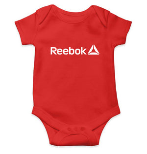 Reebok Romper For Baby Boy-0-5 Months(18 Inches)-Red-ektarfa.com