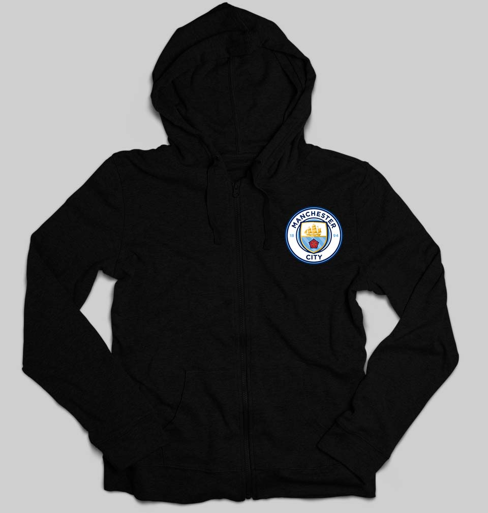 Manchester City Logo Unisex Zipper Hoodie For Men/Women