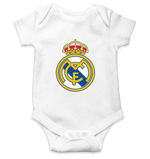 Real Madrid Romper For Baby Boy-6-12 Months(20 Inches)-White-ektarfa.com