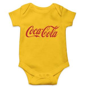 Coca Cola Romper For Baby Boy-0-5 Months(18 Inches)-Yellow-ektarfa.com