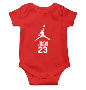 Michael Jordan Romper For Baby Boy-0-5 Months(18 Inches)-Red-ektarfa.com