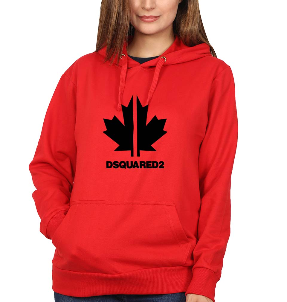 DSQUARED2 Hoodie for Women-S(40 Inches)-Red-ektarfa.com