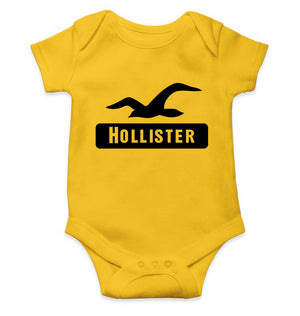 Hollister Romper For Baby Boy-0-5 Months(18 Inches)-Yellow-ektarfa.com