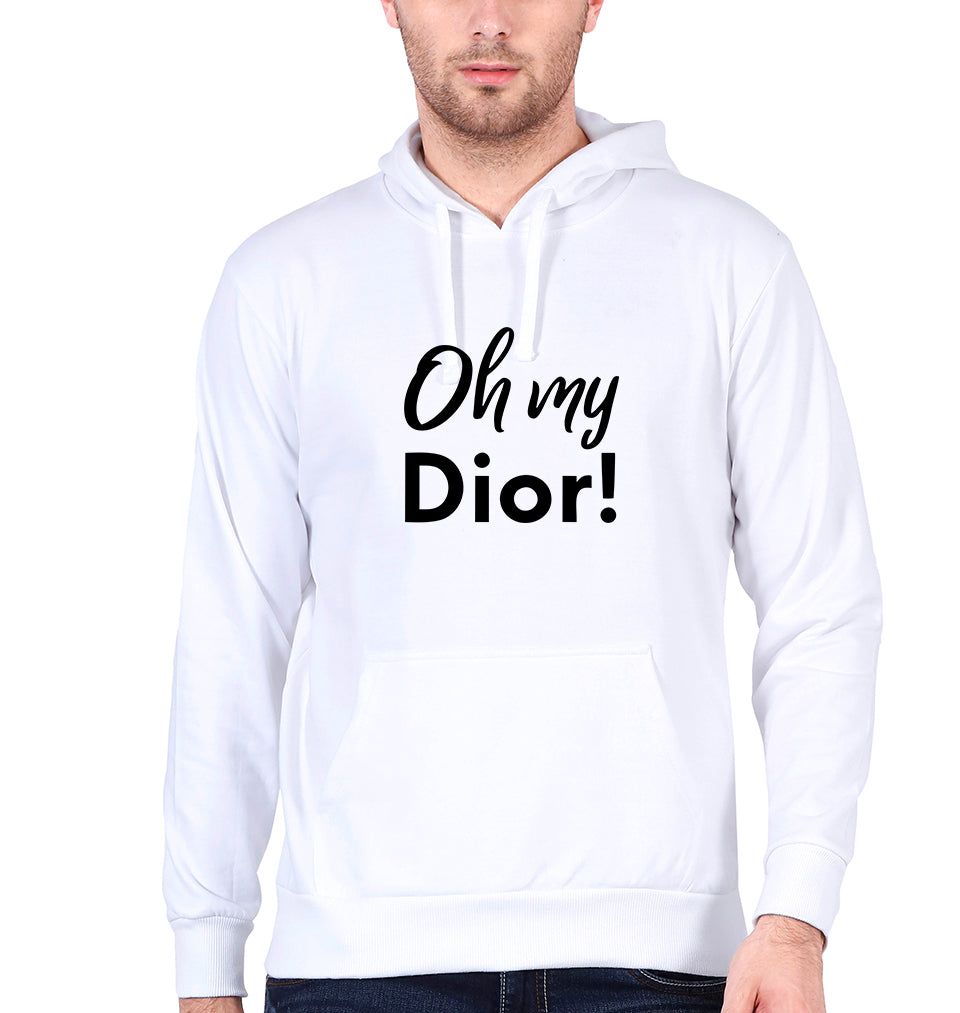 Oh My Dior Hoodie for Men-S(40 Inches)-White-ektarfa.com