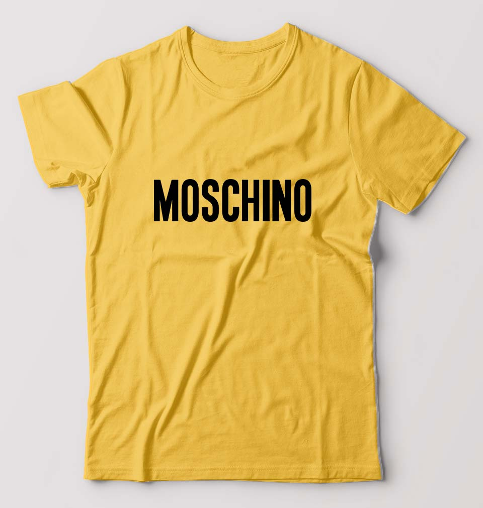 Moschino T-Shirt For Men-M(40 Inches)-Golden Yellow-ektarfa.com