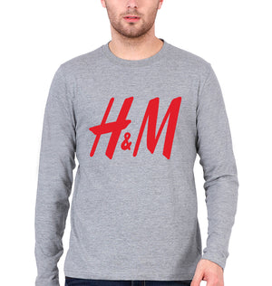 H&M Full Sleeves T-Shirt for Men