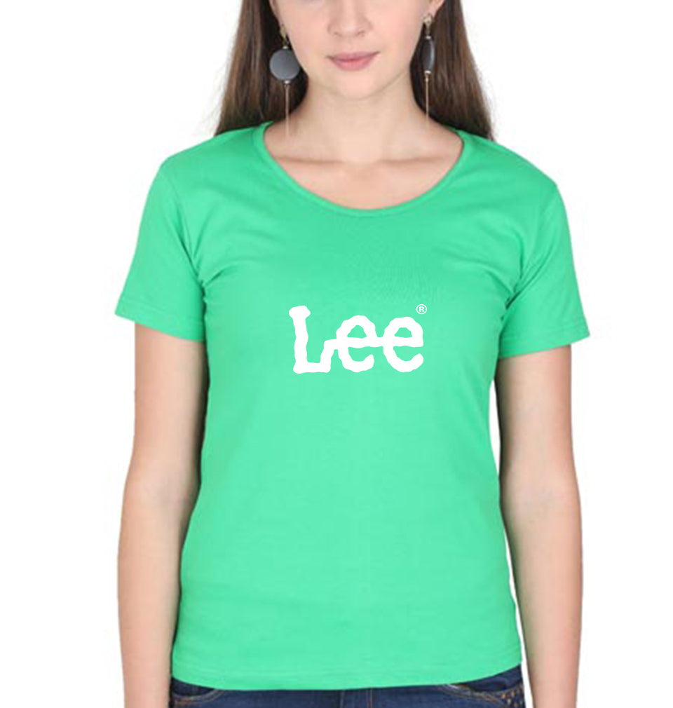 Lee T-Shirt for Women-XS(32 Inches)-flag green-ektarfa.com