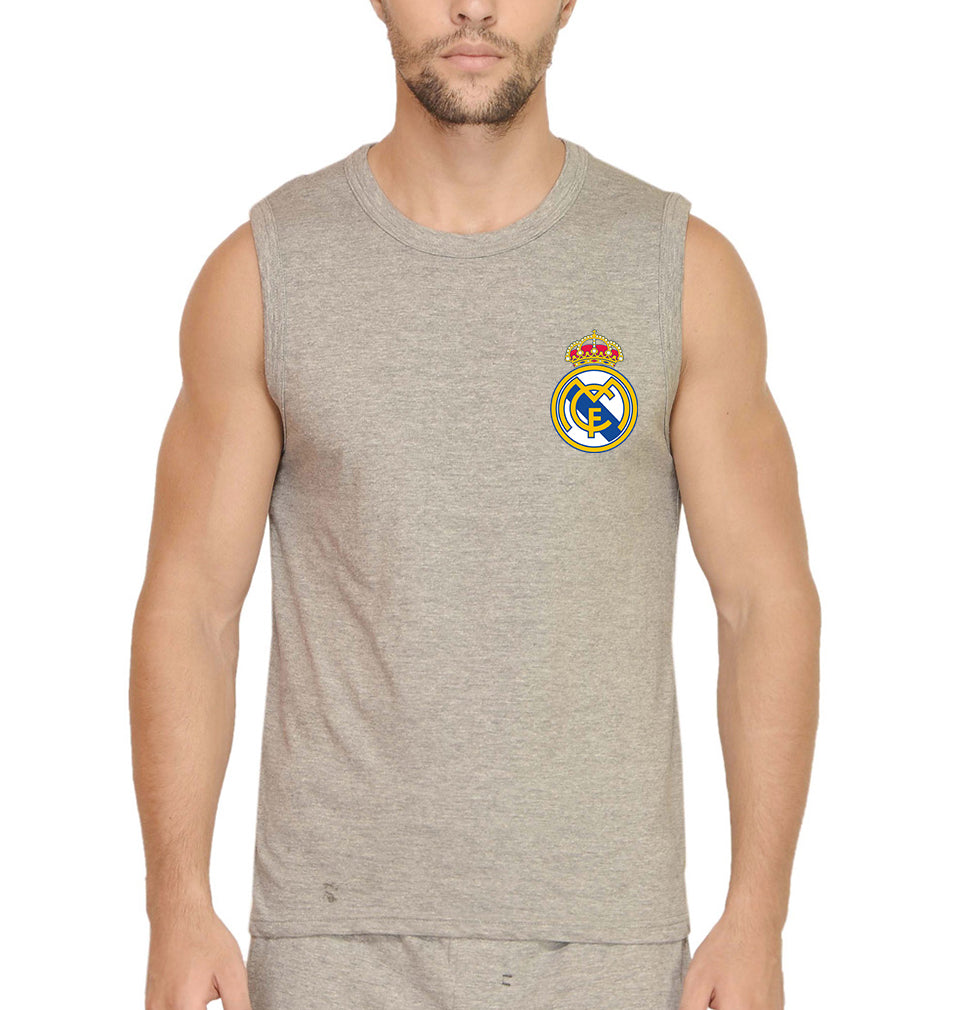 Real Madrid Logo Sleeveless T-Shirt for Men