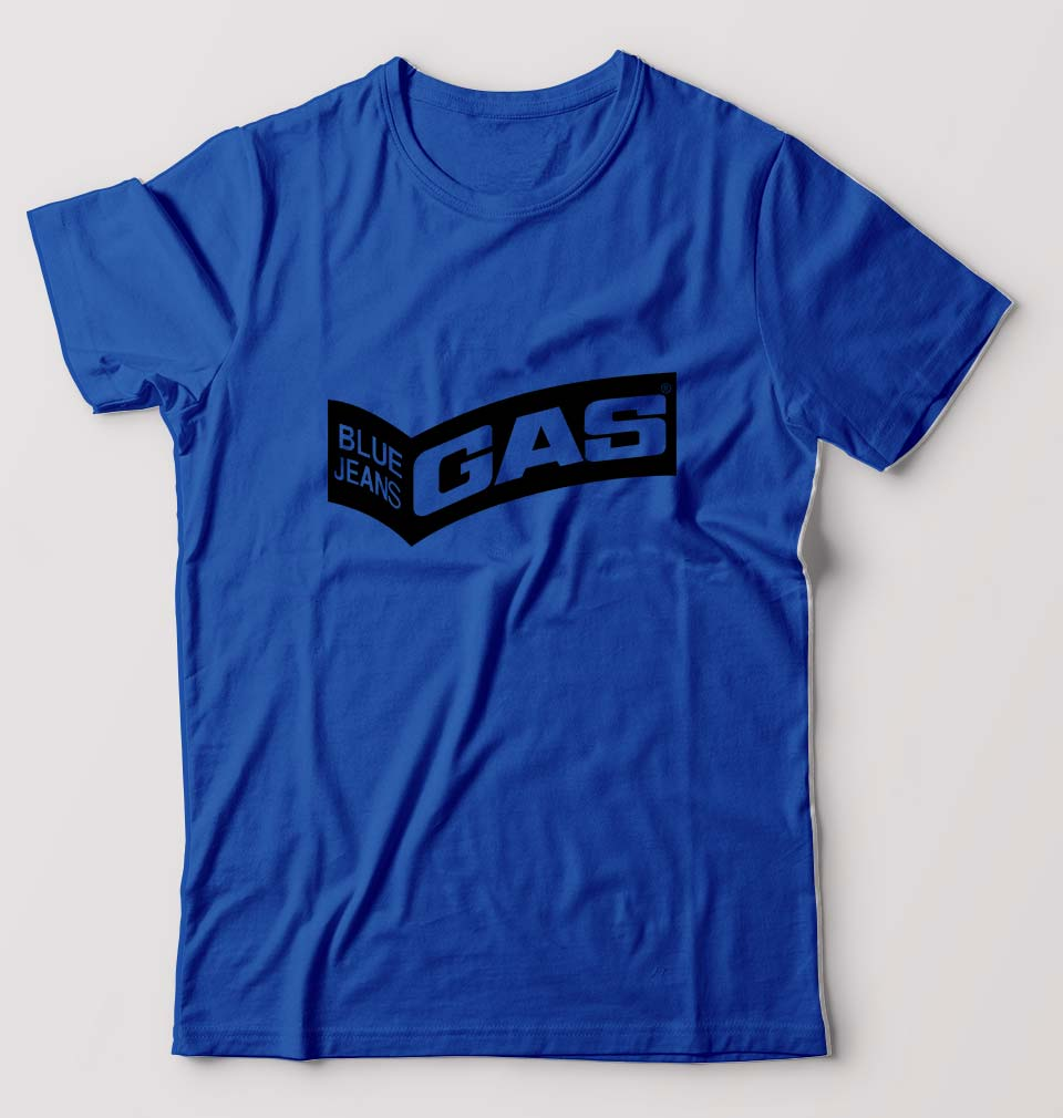 Gas T-Shirt for Men-S(38 Inches)-Royal Blue-ektarfa.com