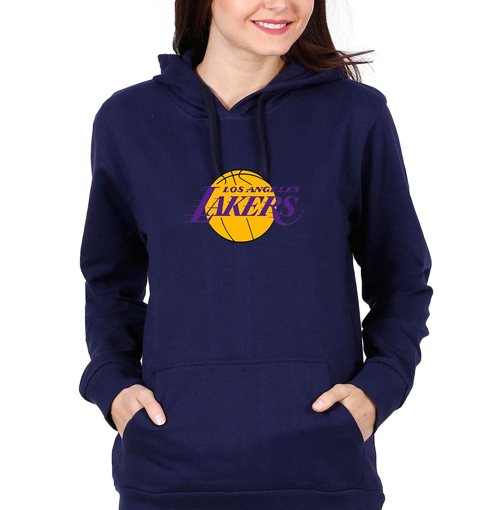 Los Angeles Lakers Hoodie for Women-S(40 Inches)-Navy Blue-ektarfa.com