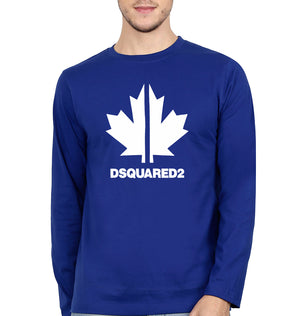 DSQUARED2 Full Sleeves T-Shirt for Men-S(38 Inches)-Royal Blue-ektarfa.com
