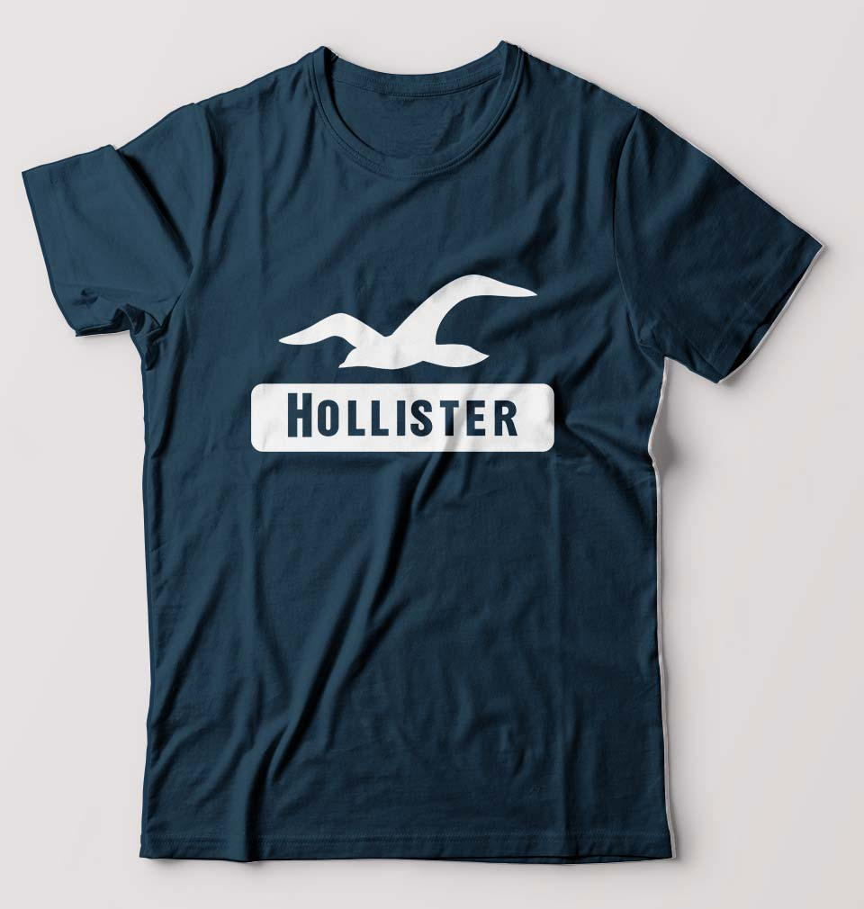 Hollister T-Shirt for Men-S(38 Inches)-Petrol Blue-ektarfa.com