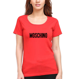 Moschino T-Shirt for Women-XS(32 Inches)-Red-ektarfa.com
