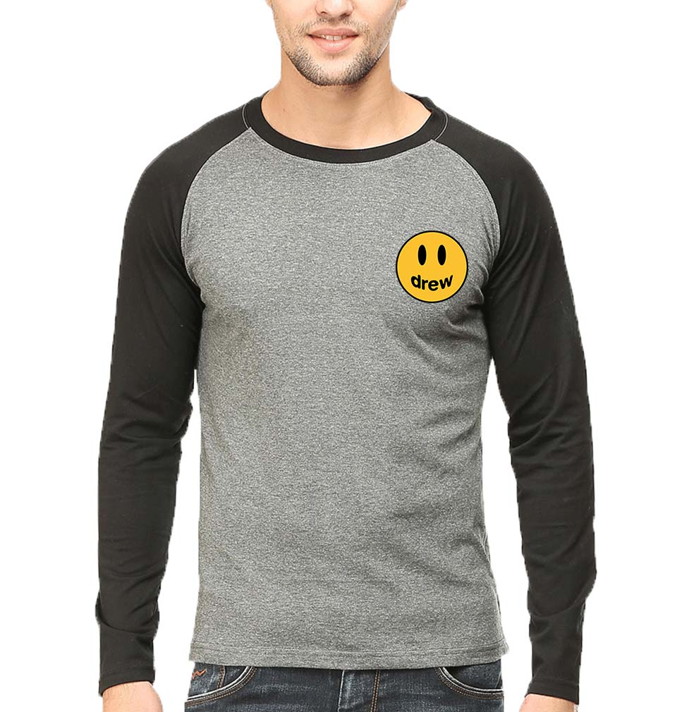 Drew House Logo Raglan Full Sleeves T-Shirt for Men