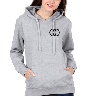 Gucci Logo Hoodie for Women-S(40 Inches)-Grey Melange-ektarfa.com