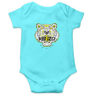Kenzo Paris Romper For Baby Boy-0-5 Months(18 Inches)-Sky Blue-ektarfa.com