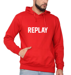 Replay Hoodie for Men-S(40 Inches)-Red-ektarfa.com