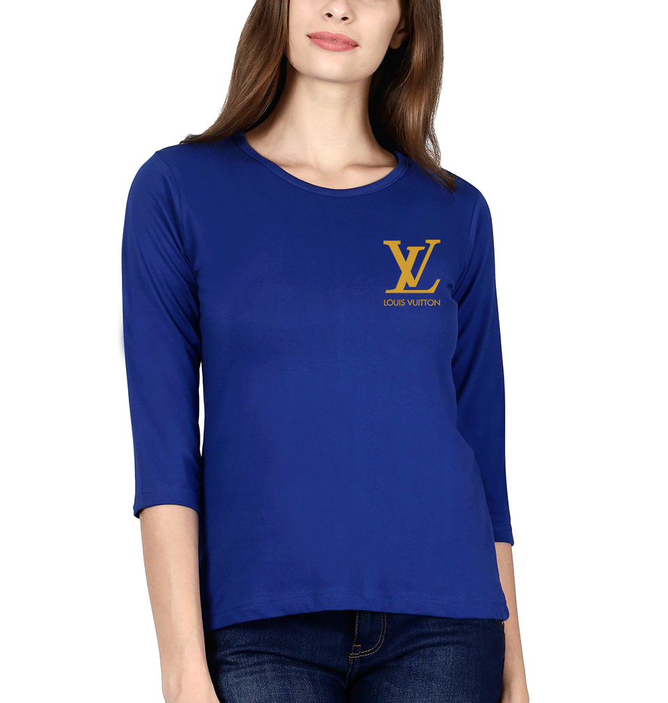 Louis Vuitton(LV) Logo Full Sleeves T-Shirt for Women