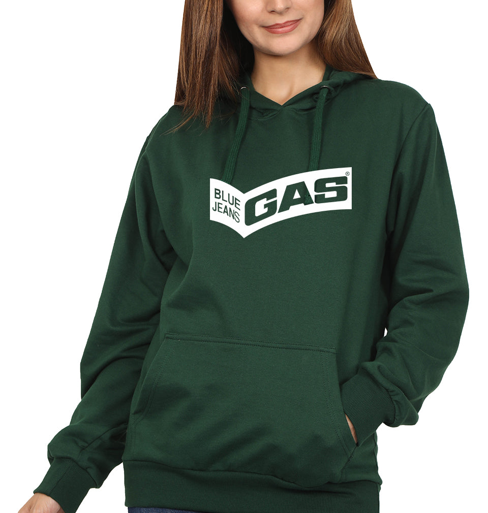 Gas Hoodie for Women-S(40 Inches)-Bottle Green-ektarfa.com