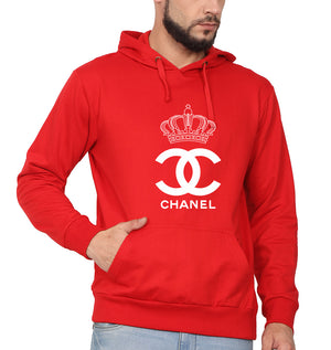 Chanel Hoodie for Men-S(40 Inches)-Red-ektarfa.com