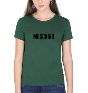 Moschino T-Shirt for Women-XS(32 Inches)-Dark Green-ektarfa.com