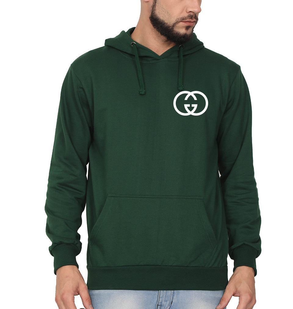 Gucci Logo Hoodie for Men-S(40 Inches)-Dark Green-ektarfa.com