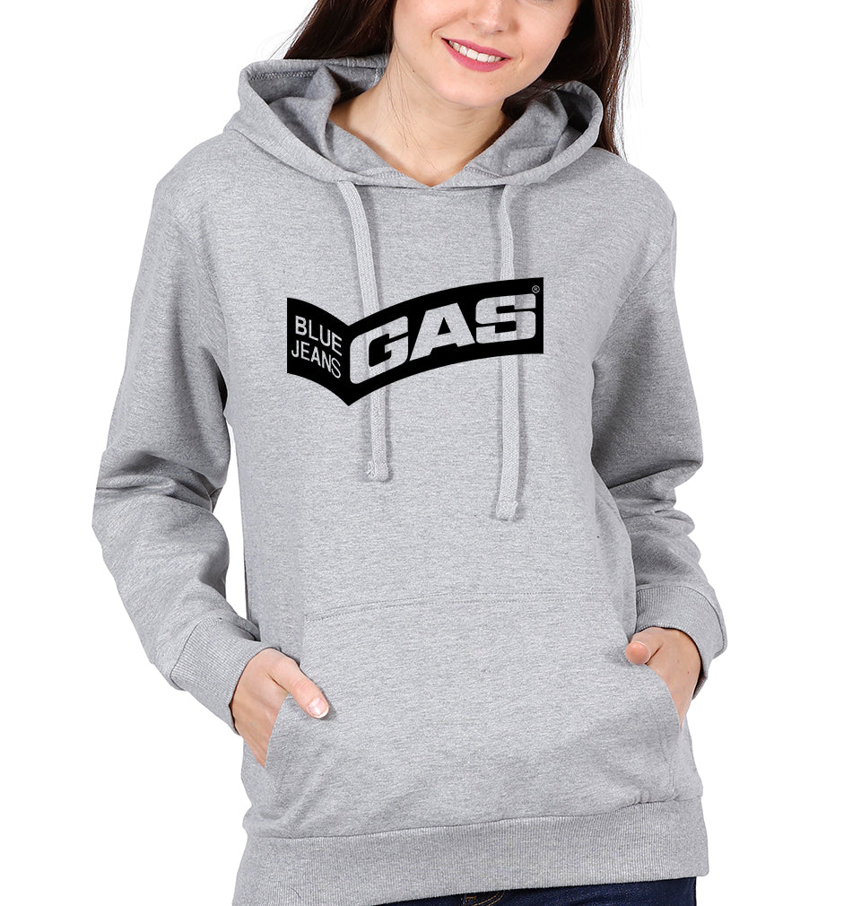 Gas Hoodie for Women-S(40 Inches)-Grey Melange-ektarfa.com